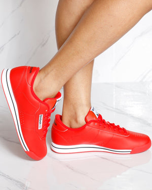 REEBOK-Women's Princess Sneakers - Red White-VIM.COM
