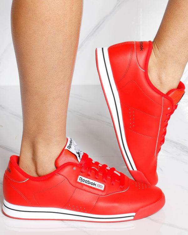 REEBOK Princess Sneakers - Red White - ShopVimVixen.com