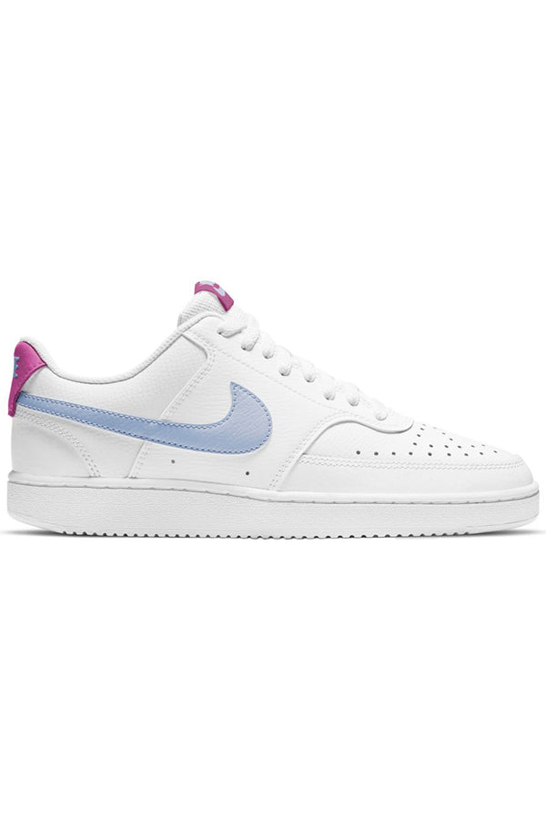 NIKE-Women's Court Vision Low Shoe - White Blue-VIM.COM