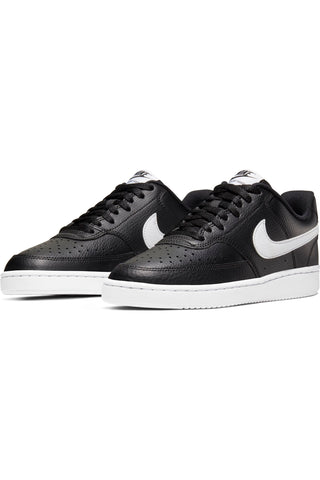 Women's Court Vision Low Sneaker - Black White