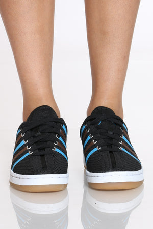 Women's 88 Knit Sneaker - Black Blue