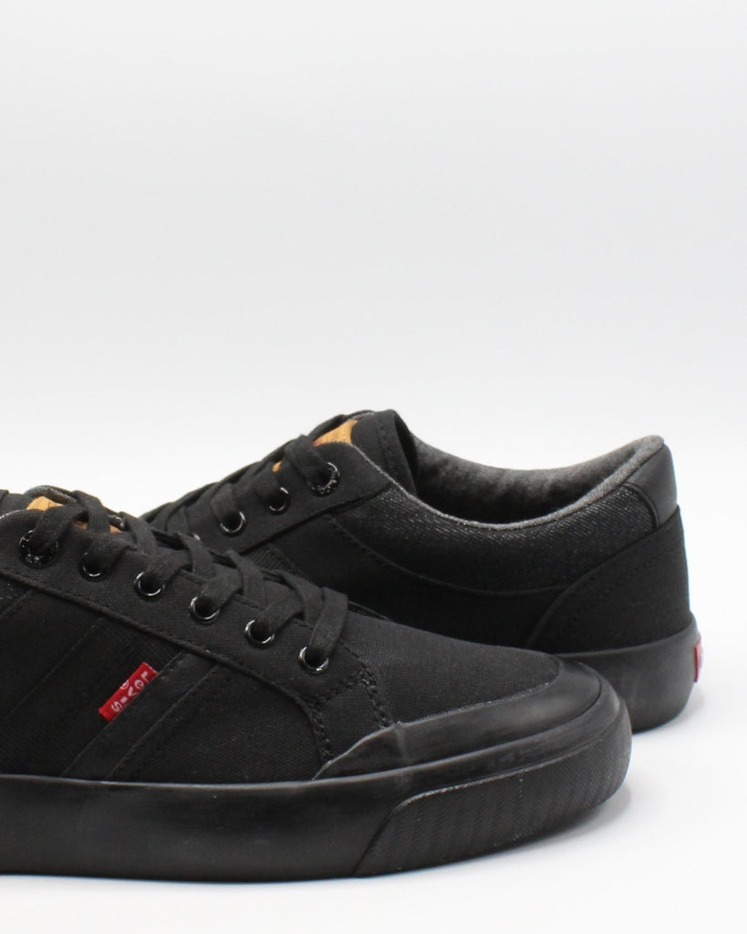 LEVI'S Men'S Hoffman Canvas Sneaker - Black - Vim.com