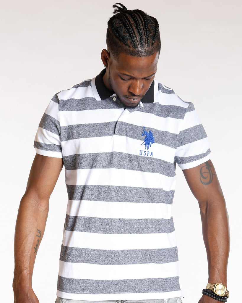 U.S. POLO ASSN. Classic Striped Collared Shirt - Black - Vim.com