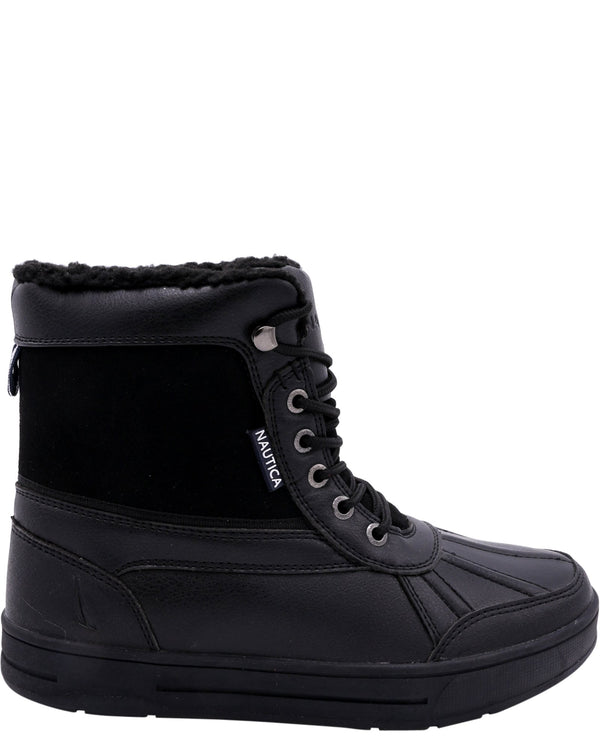 NAUTICA-Men's Lock View Fur Boot - Jet Black-VIM.COM