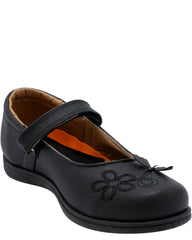 VIM Girl'S Memory Foam Butterfly Velcro School Shoes - Black - Vim.com