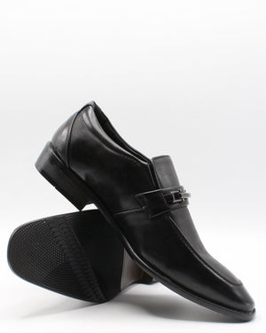 VIM Men'S Slip On Buckle Print Shoe - Black - Vim.com