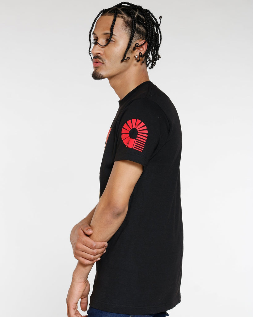 VIM Born To Be Free Flag Print Tee - Black - Vim.com
