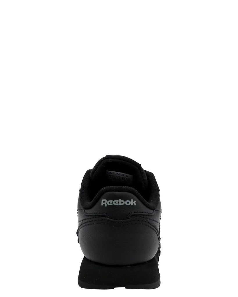 REEBOK Classic Leather Sneaker (Toddler) - Black - Vim.com