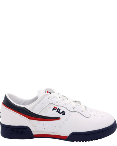 FILA-Original Fitness Sneaker (Grade School) - White Navy Red-VIM.COM