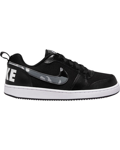 NIKE-Court Borough Low Camo Sneaker (Grade School) - Black White-VIM.COM