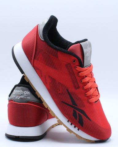 REEBOK-Classic Leather Ati Sneaker (Grade School) - Red-VIM.COM