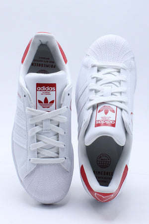 Kid's Superstar Shoe (Grade School) - White Red