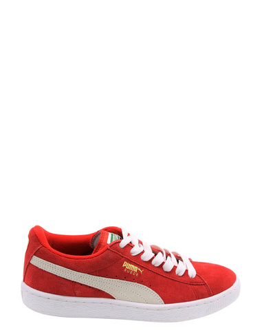 Suede Jr Classic Low Top Sneakers (Grade School)
