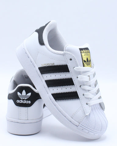 ADIDAS-Superstar Sneaker (Pre School) - White Black-VIM.COM