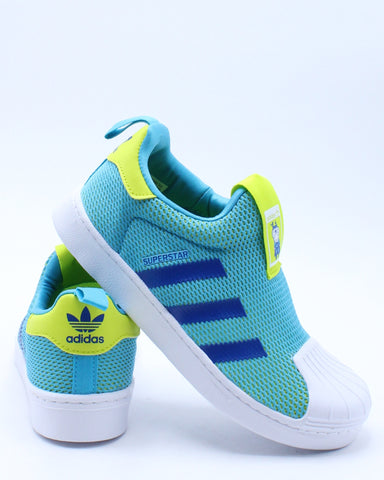 ADIDAS-Kid's Superstar 360 Sneaker (Pre School) - Blue-VIM.COM