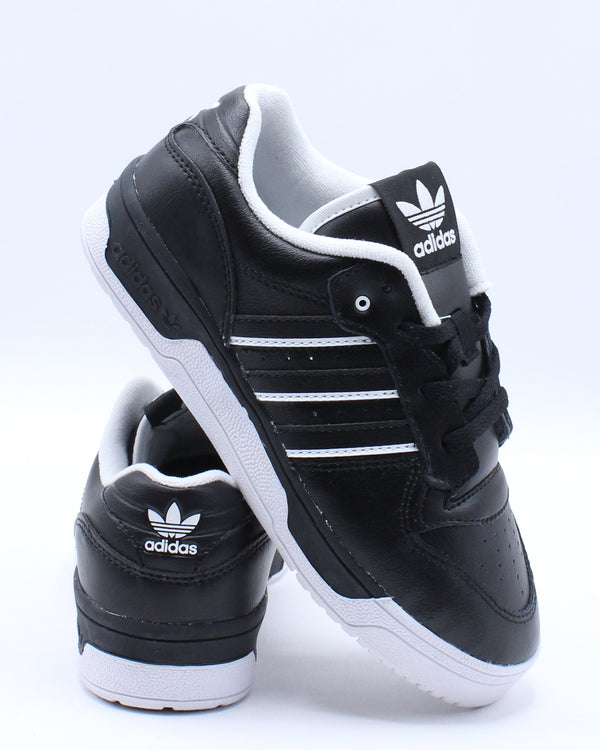 ADIDAS-Kid's Rivalry Low C Sneaker (Pre School) - Black White-VIM.COM