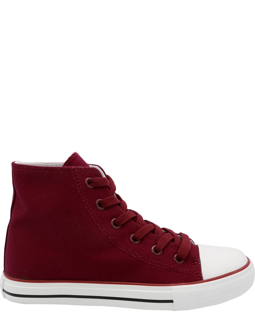 Boy's Mid Cut Canvas Sneaker (Grade School)