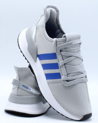 U Path Run Sneaker (Grade School) - Grey Blue White