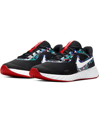 NIKE-Revolution 5 Melted Crayon Sneaker (Grade School) - Black Blue Red-VIM.COM