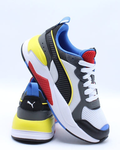 PUMA-X-Ray Sneaker (Grade School) - White Black Red-VIM.COM