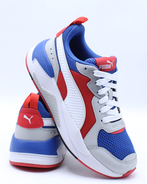 PUMA-X-Ray Sneaker (Grade School) - White Blue Red-VIM.COM