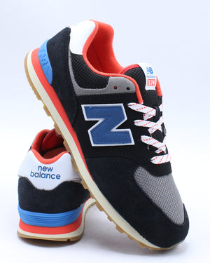 NEW BALANCE-574 Core Plus Sneaker (Grade School) - Black Flame-VIM.COM