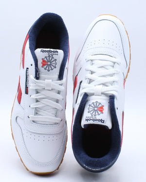 Kid's Classic Leather Sneaker (Grade School) - White Navy Red