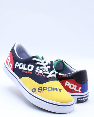 Kid's Thorton Sneaker (Grade School) - Navy Yellow Red