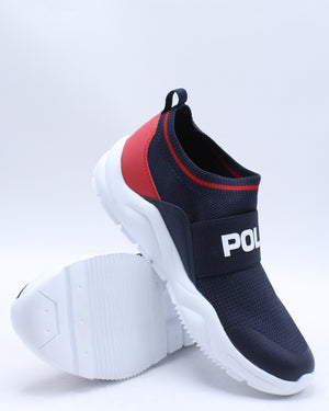 Chaning Low Sneaker (Grade School) - Navy White Red