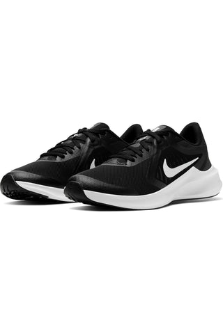 NIKE-Kid's Downshifter 10 Sneaker (Grade School) - Black White-VIM.COM