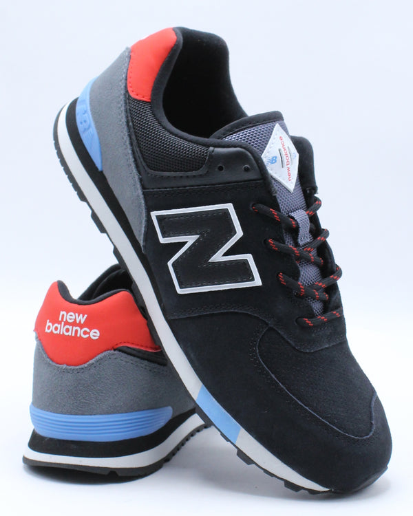 NEW BALANCE-574 Jho Sneaker (Grade School) - Black Red-VIM.COM