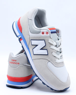 NEW BALANCE-GC574NCR Low Top Sneaker (Grade School) - Grey-VIM.COM