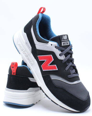 NEW BALANCE-997HAI Low Top Sneaker (Grade School) - Black Red-VIM.COM