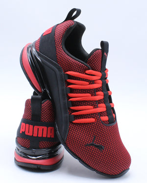 PUMA-Axelion Nm Jr Sneaker (Grade School) - Red Black-VIM.COM