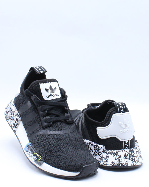Kid's Nmd R1 J Sneaker (Grade School) - Black White
