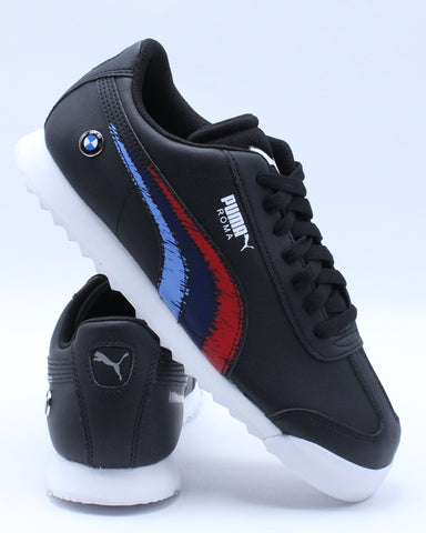 PUMA-Kid's Bmw Mms Roma Jr Sneaker (Grade School) - Black Multi-VIM.COM