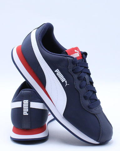 PUMA-Kid's Turin Ii Nl Jr Sneaker (Grade School) - Blue Red-VIM.COM