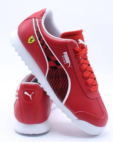 PUMA-Kid's Sf Roma Jr Sneaker (Grade School) - Red-VIM.COM