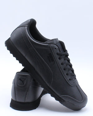 PUMA-Roma Basic Jr Low Top Sneakers (Grade School) - Black-VIM.COM