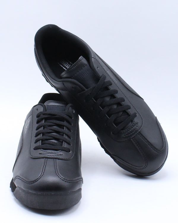 Roma Basic Jr Low Top Sneakers (Grade School) - Black