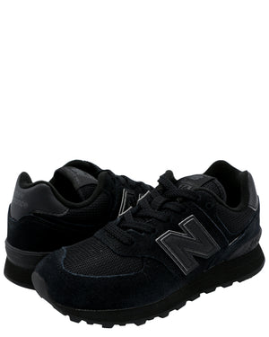 NEW BALANCE Girl'S 574 Evergreen Classic Sneaker (Pre School) - Black - Vim.com