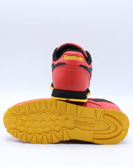 Classic Leather Mu Sneaker (Pre School) - Red Black Gold