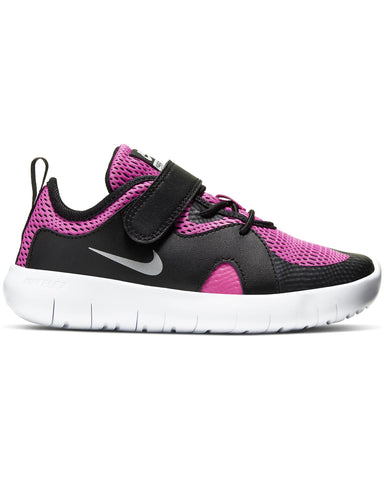 Flex Contact 3 Sneaker (Pre School) - Black Fuchsia