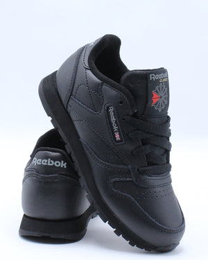 REEBOK-Classic Leather Sneaker (Pre School) - Black-VIM.COM