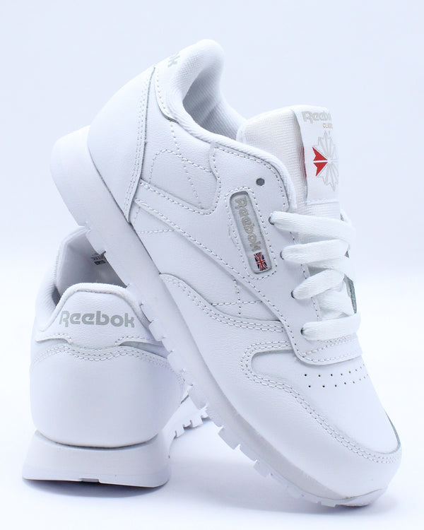 REEBOK-Classic Leather Sneaker (Pre School) - White-VIM.COM
