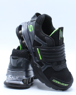 SKECHERS-Mega Volt Flex Shoe (Pre School) - Black-VIM.COM