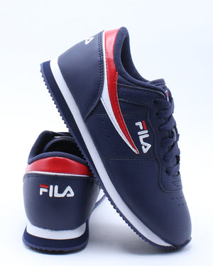 FILA-Kid's Machu Shoe (Pre School) - Navy Blue-VIM.COM