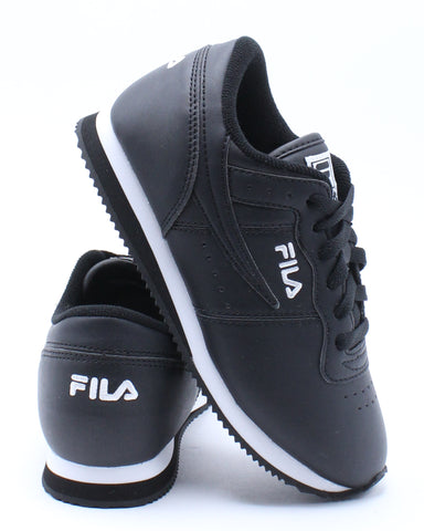 FILA-Kid's Machu Shoe (Pre School) - Black White-VIM.COM