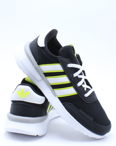 ADIDAS-Kid's Retroset Shoe (Pre School) - Black Yellow-VIM.COM