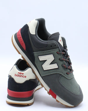 NEW BALANCE-Boys 574JHR Sneaker (Pre School) - Green-VIM.COM